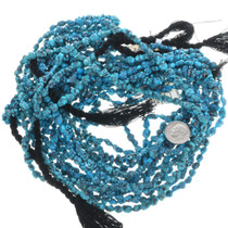 Deep Blue Spiderweb Turquoise Beads 32790