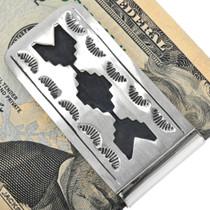 Hand Made Silver Overlay Native Money Clip 33313