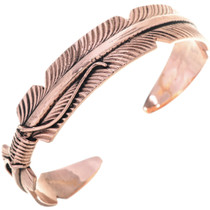 Native American Copper Feather Bracelet 33327