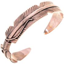 Native American Copper Feather Bracelet 33327