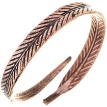 Navajo Copper Feather Bracelet 33328