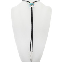 Zuni Inlay Turquoise Bolo Tie 33344