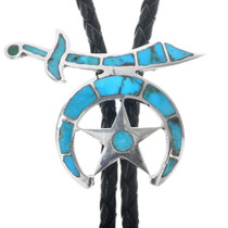 Vintage Shriner's Turquoise Bolo Tie 33344