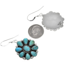 Turquoise Silver Native American Dangles 29112