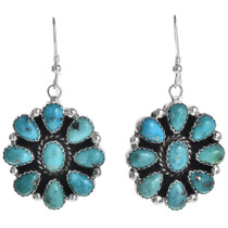 Navajo Turquoise Cluster Earrings 29112
