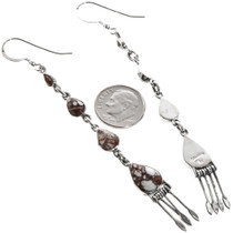 Southwest Silver French Hook Earrings 33347