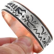 Hand Made Overlay Copper Cuff Bracelet 33352