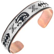 Navajo Bear Design Cuff Bracelet 33356