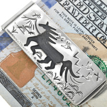 Horse Design Western Money Clip 33358