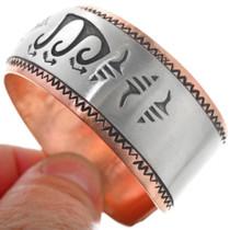Overlaid Silver Western Copper Bracelet 33362