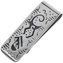 Navajo Geometric Designs Silver Money Clip 33367