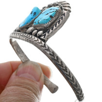 Vintage Navajo Turquoise Silver Cuff Bracelet 33370