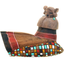 Vintage Hopi White Chin Kachina Doll 33375