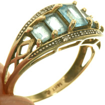 14K Gold Aquamarine Ladies Ring 33381