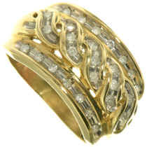 Vintage Diamond Gold Ladies Ring 33384
