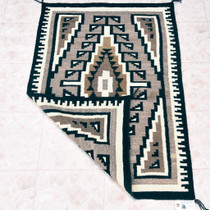 Navajo Geometric Design Wool Rug Weaving 33385