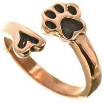 Copper Puppy Paw Ring 33507