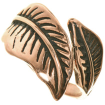 Navajo Copper Feather Ring 33508