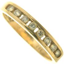 Vintage Diamond 14K Yellow Gold Ladies Ring Wedding Band 33516
