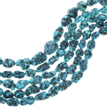 Natural Spiderweb Turquoise Beads 33408