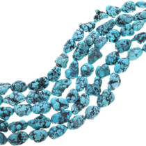 Natural Spiderweb Turquoise Nugget Beads 33409