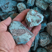 Turquoise Chunks Kingman Rough 33419