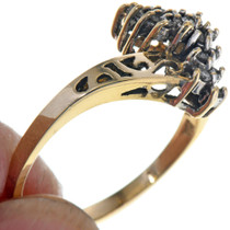Gold Filigree Design Diamond Ring 33528