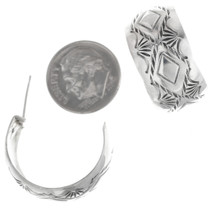 Sterling Silver Navajo Hoop Earrings 33550