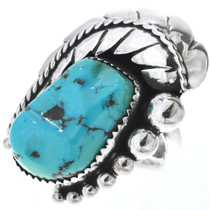 Vintage Navajo Made Turquoise Ring 33566