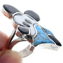 Zuni Inlay Mickey Mouse Turquoise Ring 33571