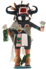 Vintage Black Ogre Hopi Kachina Doll 33575