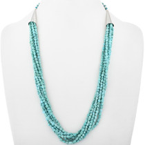 Natural Turquoise Beaded Navajo Necklace 33582