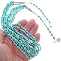 Seven Strand Turquoise Nugget Necklace 33582
