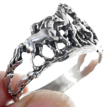 Silver Western Horse Ring 33584