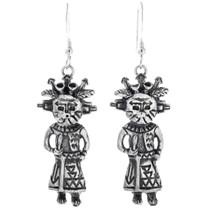 Sterling Silver Kachina Earrings 33595