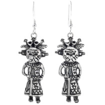 Sterling Silver Kachina Earrings 33595