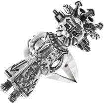 Native American Silver Kachina Ring 33596