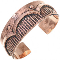 Old Pawn Style Copper Cuff Navajo Heavy Gauge Bracelet 33600