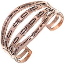 Native American Copper Cuff Hammered Bracelet 33606