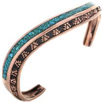 Turquoise Copper Navajo Cuff 33607