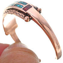 Turquoise Chip Inlay Copper Cuff 33608