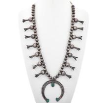 Vintage Turquoise Squash Blossom Necklace 33617