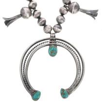Turquoise Squash Blossom Necklace 33617