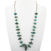 Vintage Turquoise Santo Domingo Necklace 33625