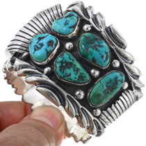 Sterling Kingman Turquoise Watch Cuff 33632
