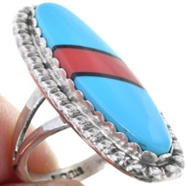 Blue Turquoise Sterling Ladies Ring 33635