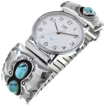 Old Pawn Turquoise Shadowbox Mens Watch 33641