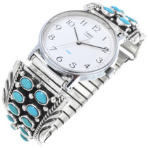 Vintage Sleeping Beauty Turquoise Cluster Watch Tips 33646