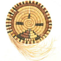 Small Vintage Hopi Wall Plaque With Grass Tail 33648