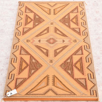 Vintage Navajo Raised Outline Wool Rug 33650